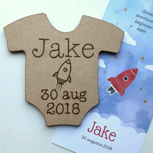 Geboorte rompertje Jake